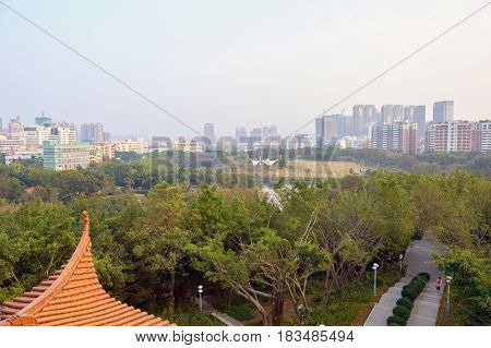 Park in Longgang District of Shenzhen.