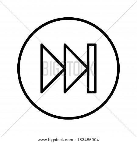 next button media menu vector illustration design