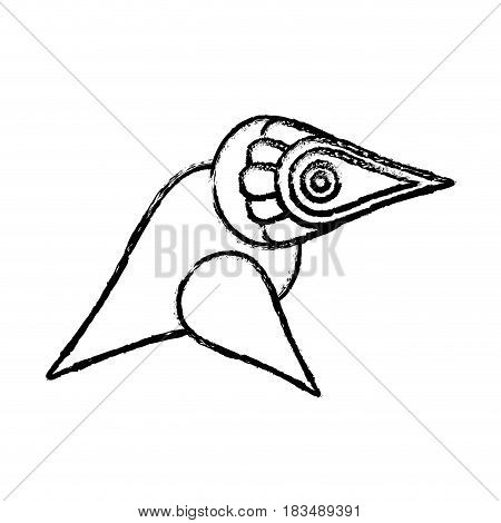 bird symmetric figure icon over white background. vector illustration