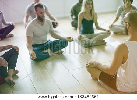 People are learning from trainer and sitting in room