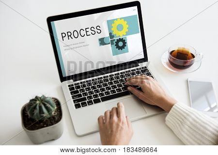 Progress Work Process Success Concept