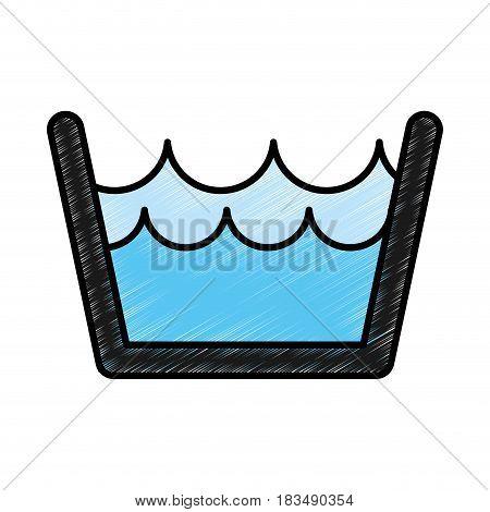 Laundry water indicator icon vector illustration design