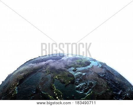 Indochina On Earth At Dusk