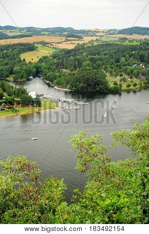 The prospect of the river Vltava in the Czech Republic