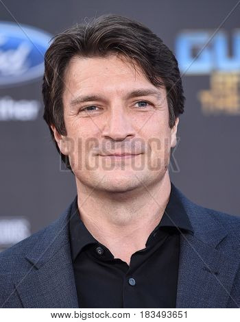 LOS ANGELES - APR 19:  Nathan Fillion arrives for the