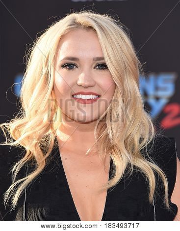 LOS ANGELES - APR 19:  Emily Osment arrives for the