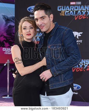 LOS ANGELES - APR 19:  David Dastmalchian and Evelyn Leigh arrives for the