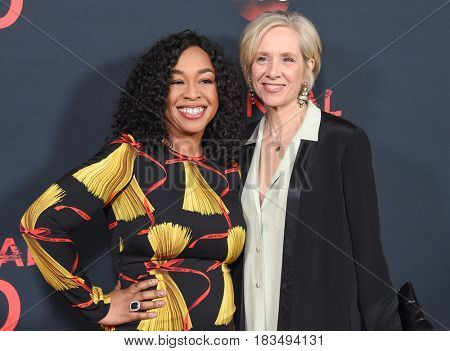 LOS ANGELES - APR 08:  Shonda Rhimes and Betsy Beers arrives to the