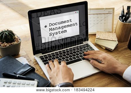 Document Management System Window Popup