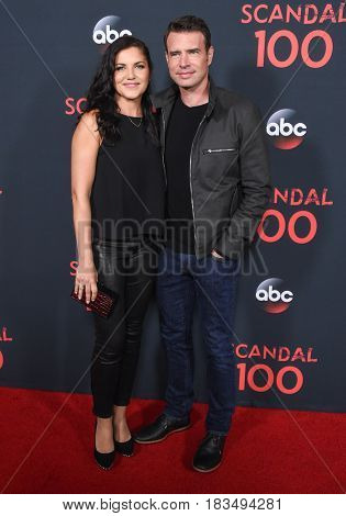 LOS ANGELES - APR 08:  Scott Foley and Marika Dominczyk arrives to the