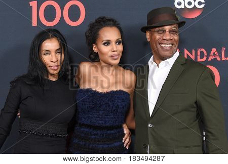 LOS ANGELES - APR 08:  Khandi Alexander, Kerry Washington and Joe Morton arrives to the