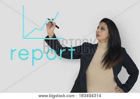 Business Line Graph Report Word