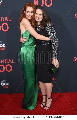 LOS ANGELES - APR 08:  Darby Stanchfield and Katie Lowes arrives to the
