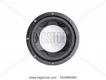 Black Loudspeaker 3D Render No Shadow  Background