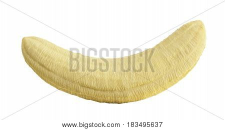 Peeled Banana Open Banana 3D Render Isolated On A White Background No Shadow