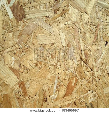 Close up of Wooden Chipboard texture for use as a background