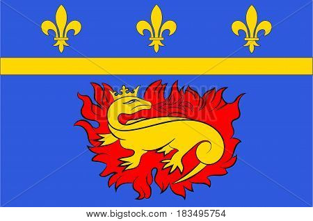 Flag of Vitry-le-Francois is a commune in the Marne department in north-eastern France. Vector illustration