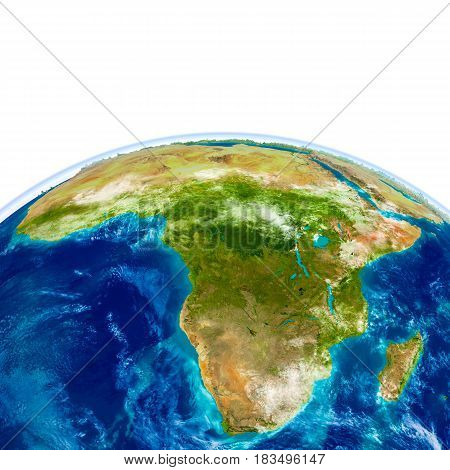 Africa On Physical Globe
