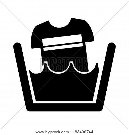 Laundry water indicator with shirt icon vector illustration design