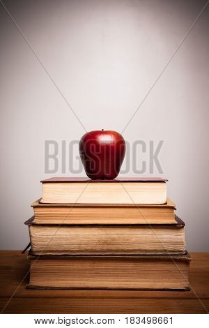 Holy Bible with apple with the white background