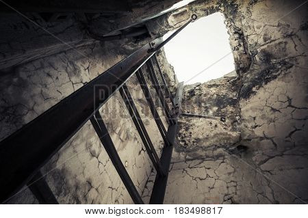 Old Empty Abandoned Bunker Interior