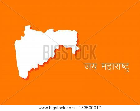 Illustration of map of Maharashtra state of India