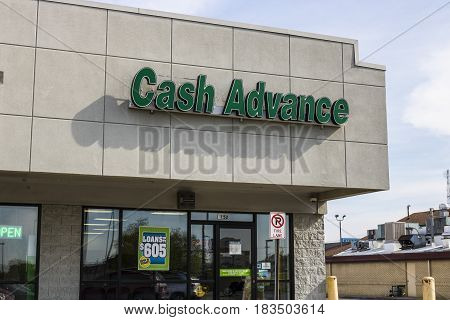 Marion - Circa April 2017: Cash Advance Strip Mall Location. Cash Advance is a Payday Loan Company I