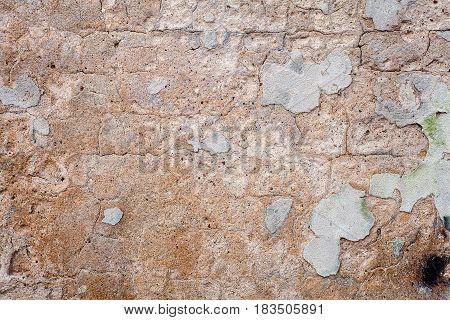 Detail of an old cracked cement wall texture