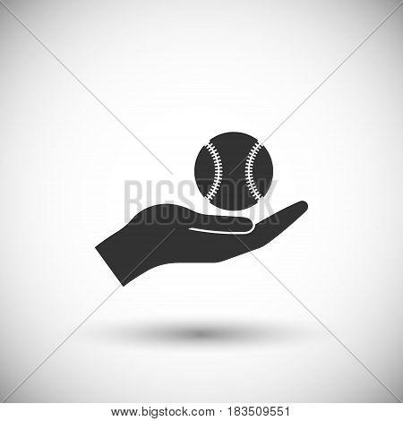 Ball baseball icon isolated on white background. Vector illustration. Eps 10