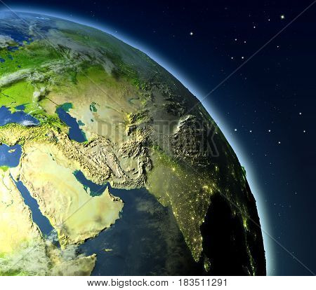 Middle East From Orbit