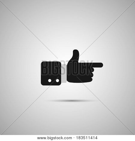 Snap of the fingers icon isolated on white background. Vector illustration. Eps 10.