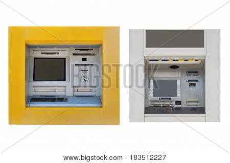 image of ATM machine isolated on white background