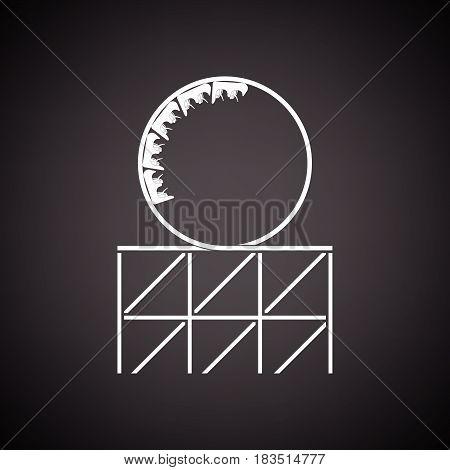 Roller Coaster Loop Icon