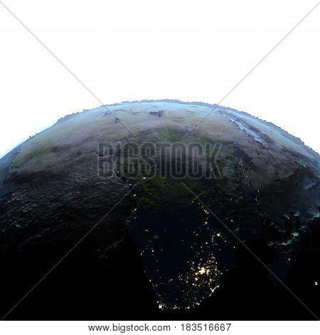 Africa On Earth At Dusk