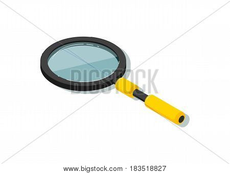 Magnifying glass vector illustration isolated on white background. Search concept, magnifier icon.