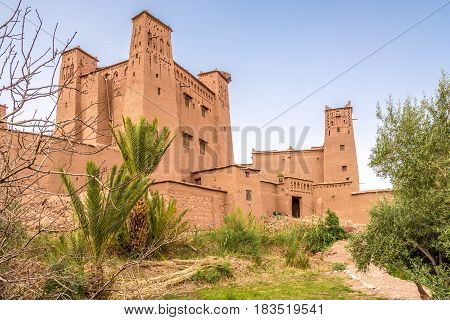 View at the Ksar of Kasbah Ait Benhaddou in Morocco