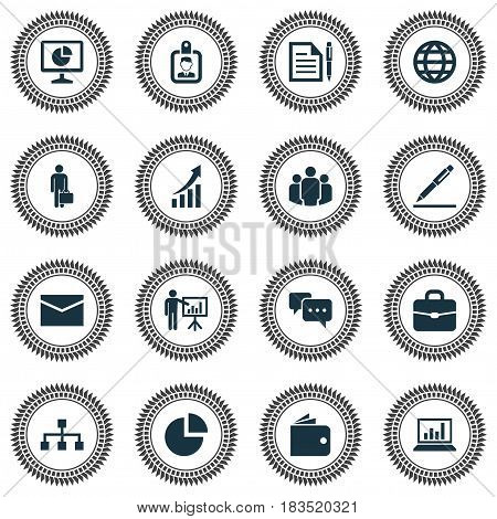 Trade Icons Set. Collection Of Hierarchy, Increasing, Group And Other Elements. Also Includes Symbols Such As Business, Conversation, Handbag.