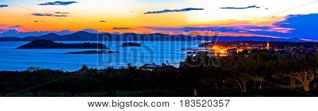 Pakostane And Pasman Islands Evening View