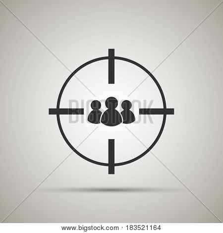 target audience icon. isolated on background. Vector illustration. Eps 10.