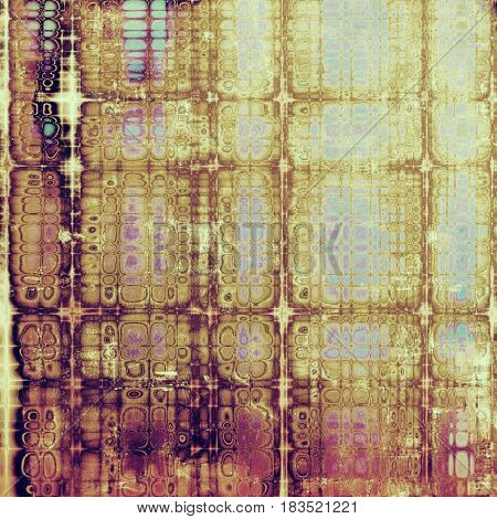 Vintage old retro background with ancient style design elements and different color patterns: yellow (beige); brown; pink; blue; red (orange); purple (violet)