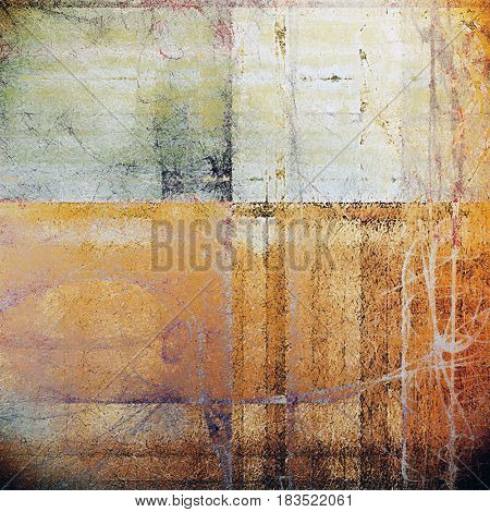 Stylish grunge texture, old damaged background. With different color patterns: yellow (beige); brown; gray; pink; red (orange); white
