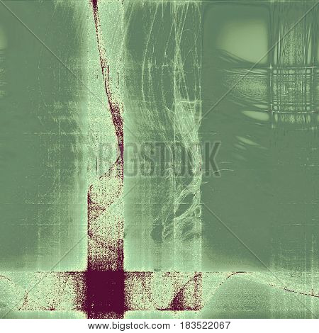 Creative grunge background in vintage style. Faded shabby texture with different color patterns: green; gray; purple (violet); cyan