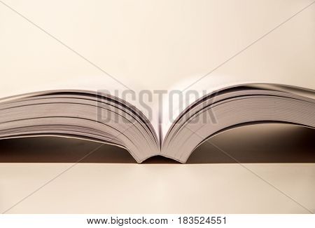 open book on a table for study