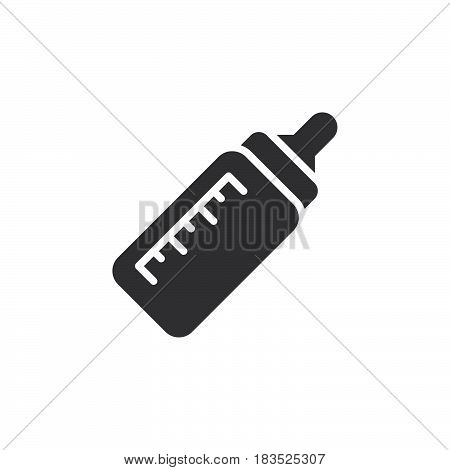 Baby bottle icon vector filled flat sign solid pictogram isolated on white. Symbol logo illustration. Pixel perfect