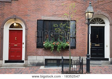 Red And Black City Doors