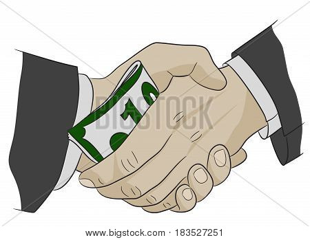Corruption money politics agreement handshake finance illegal