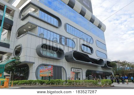 TAIPEI TAIWAN - DECEMBER 3, 2016: Unidentified people visit Syntrend. Syntrend is a shopping mall specialising electronics and hi tech product.