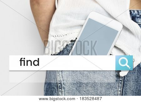 Network connection graphic digital device in pocket