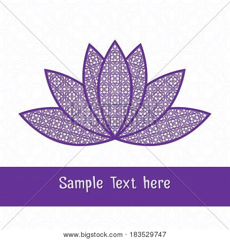 Paper cutting card.Decorative openwork lotus. Can be used for laser or plotter cutting