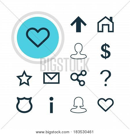 Vector Illustration Of 12 User Icons. Editable Pack Of Letter, Female User, Money Making And Other Elements.